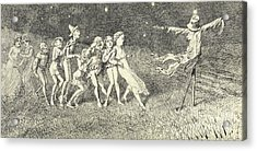 A Scarecrow Acrylic Print by Charles Altamont Doyle