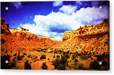 A Scene From Abiquiu Acrylic Print by Jim Buchanan