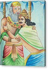 A Scene From Mahabharata Acrylic Print by Tanmay Singh