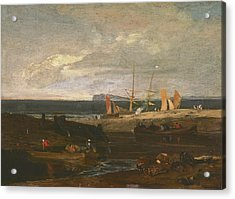 A Scene On The English Coast Acrylic Print by Joseph Mallord William Turner