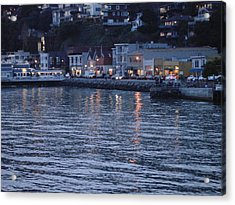 A Scenery Of Sausalito At Dusk Acrylic Print