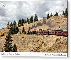 A Scenic Railroad Steam Train, Near Antonito In Conejos County In Colorado Acrylic Print by Carol M Highsmith