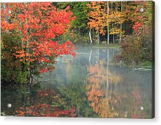 A Seat To Watch Autumn Acrylic Print