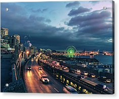 A Seattle Evening Acrylic Print