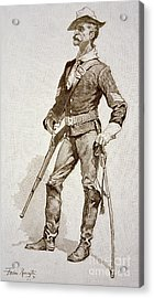 A Sergeant Of The Us Cavalry Acrylic Print