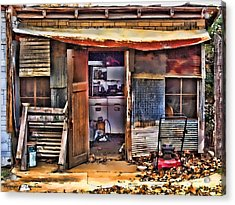 A Shack In Harrison Acrylic Print by Kathy Tarochione