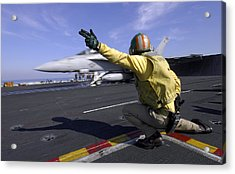 A Shooter Signals The Launch Of An Acrylic Print by Stocktrek Images