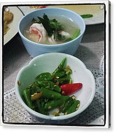 Acrylic Print featuring the photograph A Side Of Tom Yum Goon With Your by Mr Photojimsf