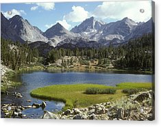 A Sierra Mountain Lake In Summer Acrylic Print by Stephen Sharnoff