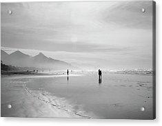 A Silver Day On The Beach Acrylic Print by Dan Dooley
