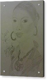 A Singer Ciara Acrylic Print