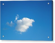 Acrylic Print featuring the photograph A Single Cloud by Eric Christopher Jackson