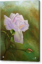 A Single Rose Acrylic Print