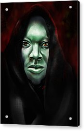 Acrylic Print featuring the digital art A Sith Fan by AC Williams