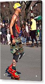 A Skater In Central Park Acrylic Print by RicardMN Photography