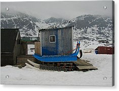 A Sledge Dog House Three Acrylic Print by Sidsel Genee