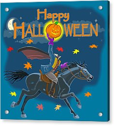 A Sleepy Hollow Halloween Acrylic Print