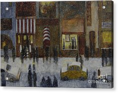 A Slice Of Night Life Acrylic Print by Glenn Quist