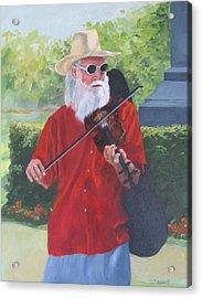 A Slim Fiddler For Peace Acrylic Print