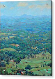 A Slow Summer's Day- View From Roanoke Mountain Acrylic Print by Bonnie Mason