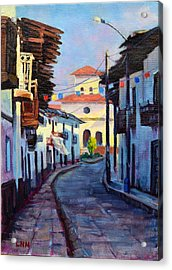 A Small Town Acrylic Print