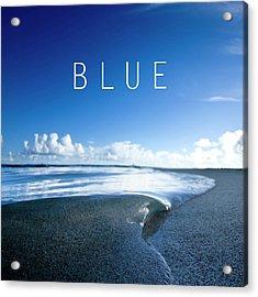Blue. Acrylic Print