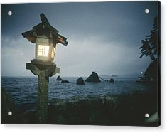 A Small Wooden Lantern Looks Acrylic Print by Luis Marden