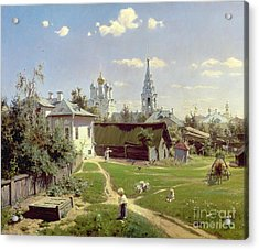 A Small Yard In Moscow Acrylic Print by Vasilij Dmitrievich Polenov