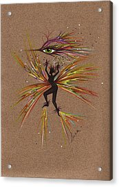Acrylic Print featuring the drawing A Snit.... by Dawn Fairies
