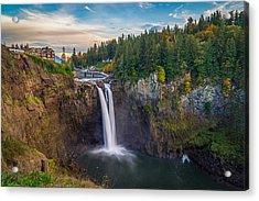 A Snoqualmie Falls  Autumn Acrylic Print