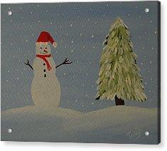A Snowman's Christmas Acrylic Print