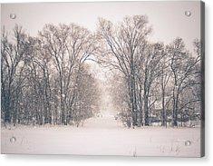 A Snowy Monday Acrylic Print
