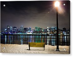 A Snowy Night In Montreal  Acrylic Print