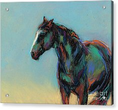 Acrylic Print featuring the pastel A Soft Breeze by Frances Marino