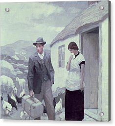 A Son Of His Father  Acrylic Print by Newell Convers Wyeth