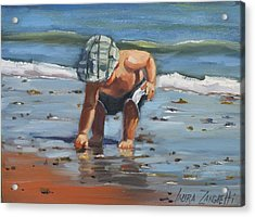 A Southie Babe Acrylic Print by Laura Lee Zanghetti