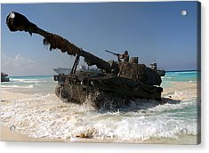 A Spanish Army M109a5 155mm Acrylic Print