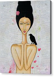 Acrylic Print featuring the mixed media A Special Friend by Natalie Briney