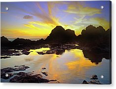 Acrylic Print featuring the photograph A Splatter Paint Sunset by Tara Turner