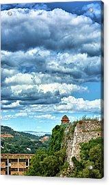 Acrylic Print featuring the photograph A Spring Day At The Roman Walls Of Tarragona by Eduardo Jose Accorinti
