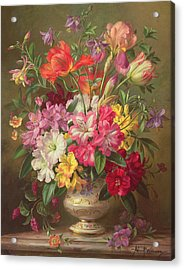 A Spring Floral Arrangement Acrylic Print by Albert Williams