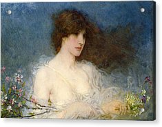 A Spring Idyll Acrylic Print by George Henry Boughton
