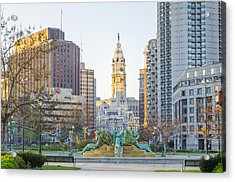 A Spring Morning In Philadelphia Acrylic Print by Bill Cannon
