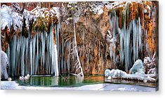 A Spring That Knows No Summer. - Hanging Lake Print Acrylic Print