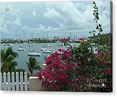 A St Maarten Marina Acrylic Print