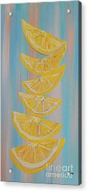 A Stack Of Lemon Slices Acrylic Print