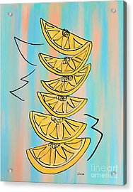 A Stack Of Lemons Modern Acrylic Print