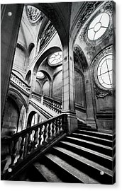 A Stairwell In The Louvre, Paris Acrylic Print