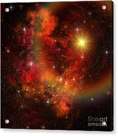 A Star Explodes Sending Out Shock Waves Acrylic Print by Corey Ford