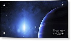 A Star Provides A Cool Glow On A Nearby Acrylic Print by Justin Kelly